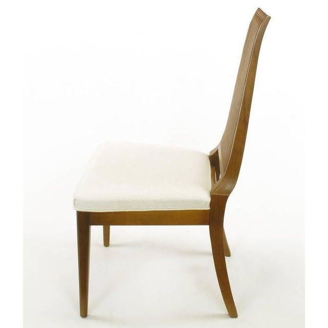 Sleek, circa 1950s Modern Walnut and Cane Dining Chairs - Image 7 of 10