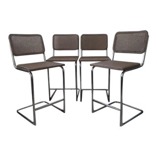 Marcel Breuer Cesca Style Barstools - Set of 4