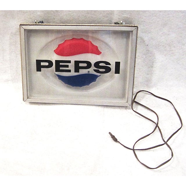 Vintage Lighted Pepsi Advertising Sign - Image 2 of 3