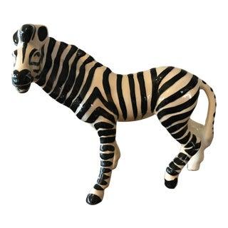 Mid Century Ceramic Zebra Figurine