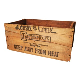 Vintage Industrial Shipping Crate - Lovell Chocolates