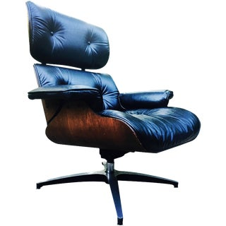 Eames-Style Mid-Century Lounge Chair