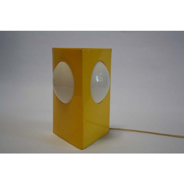 Mid-Century Mod Plastic Triangle Lamp - Image 3 of 10