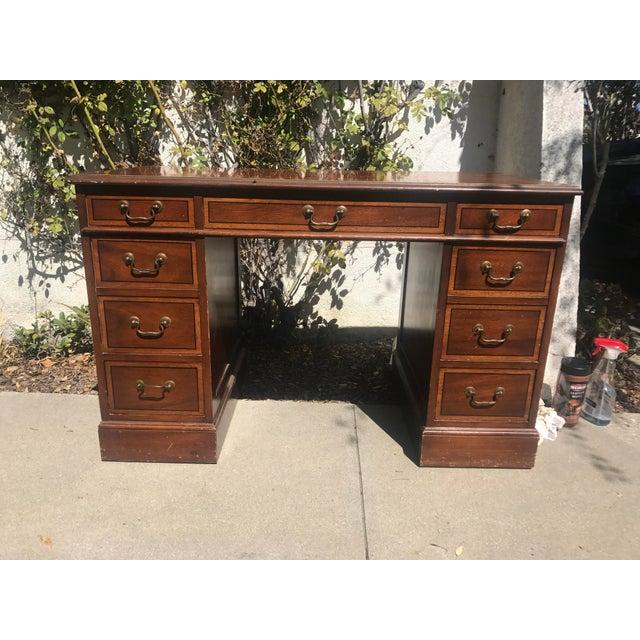 Sligh-Lowry 1940's Antique Executive Desk - Image 2 ... - Sligh-Lowry 1940's Antique Executive Desk Chairish
