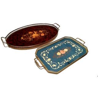 Vintage Italian Sorrento Inlaid Wood Trays - 2