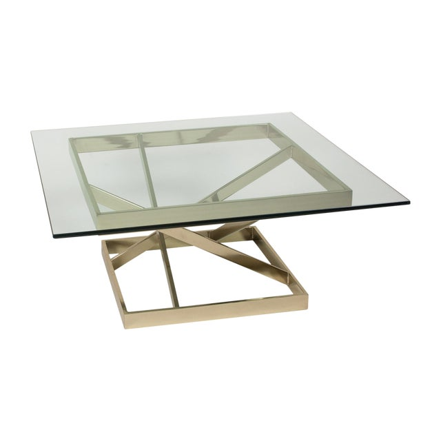 1980s Intersecting Angles Coffee Table - Image 1 of 9