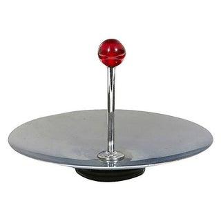 Round Chrome Art Deco Server