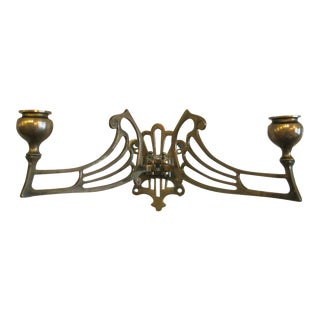 Art Nouveau Brass Wall Sconce