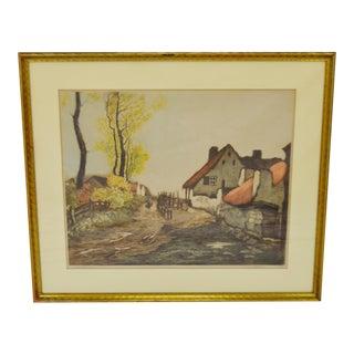 Vintage 1930's Camille Lucas SZL Framed Print European Scene