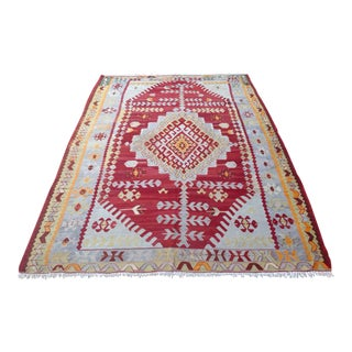 "Vintage Turkish Kilim Rug - 6'8"" x 9'7"""