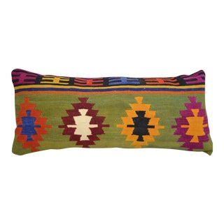 Vintage Turkish Kilim Lumbar Pillow Cover