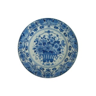 Royal Delft Blue And White Flower Basket Charger