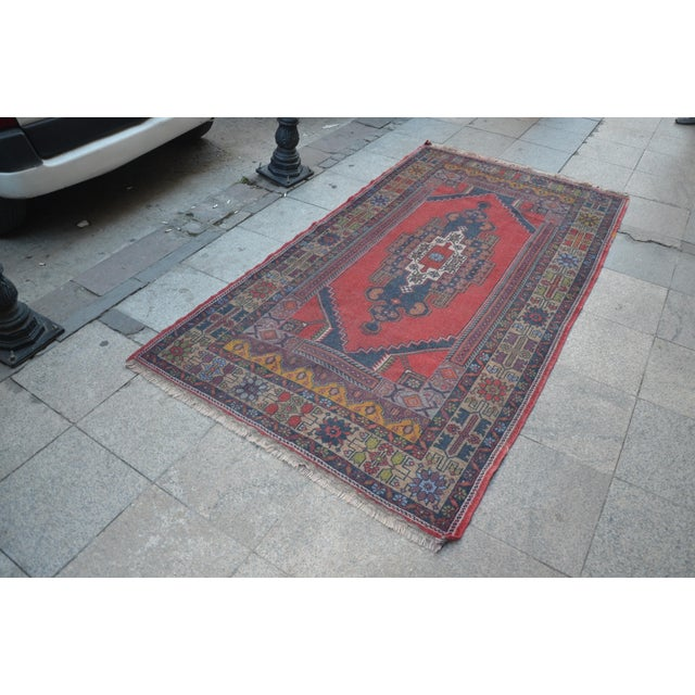 Turkish Handmade Floor Rug - 4′5″ × 8′3″ - Image 3 of 6