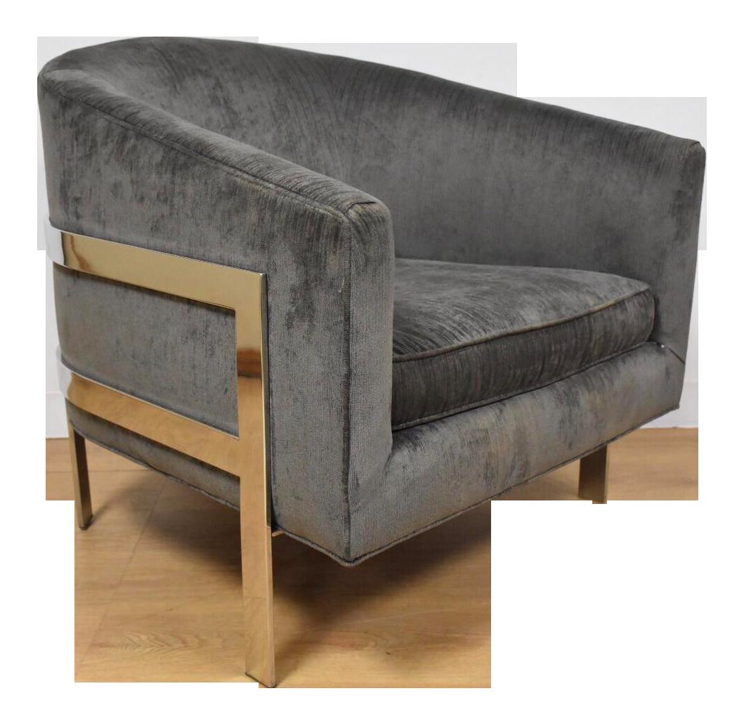 Mitchell Gold + Bob Williams Modern Chrome Lounge Chair