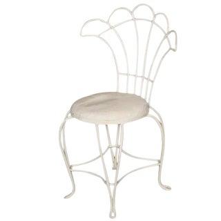 Woodard Rod Iron Fan Back Outdoor/Patio Chair
