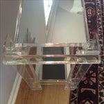 Image of Geometric Lucite Bar Cart