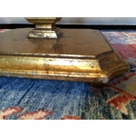 Image of Mid-Century Marble & Gilded Side Tables - A Pair