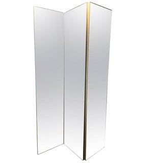 Mirrored 3-Panel Screen