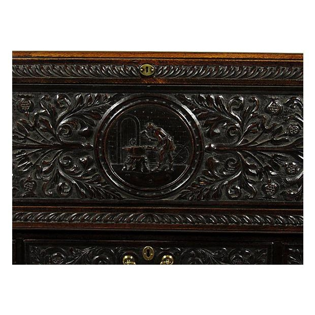 19th Century English Carved Slant-Front Desk - Image 7 of 7