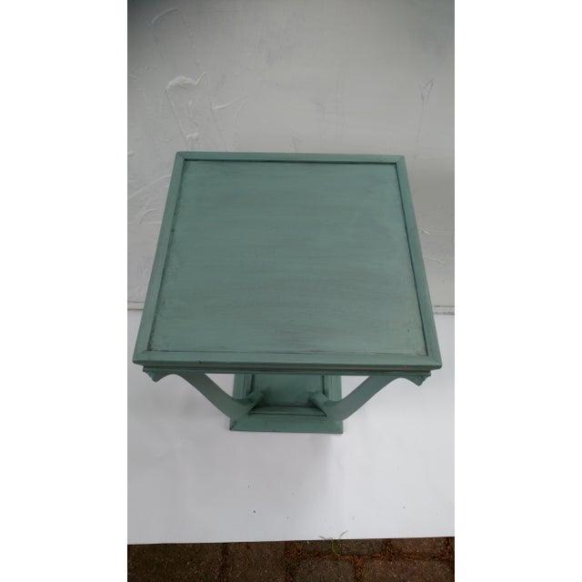 Blue Glazed Side Table - Image 6 of 6