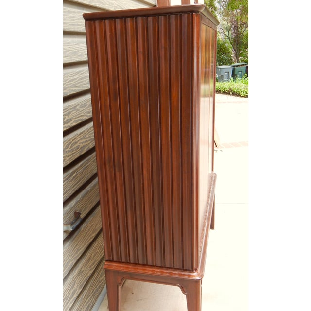 Swedish Moderne Cabinet in Flame Mahogany, 1940's - Image 4 of 10