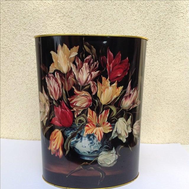 Vintage Tulip Wastebasket - Image 6 of 8