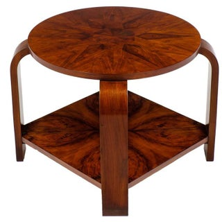 French Art Deco Marquetry Guéridon Table