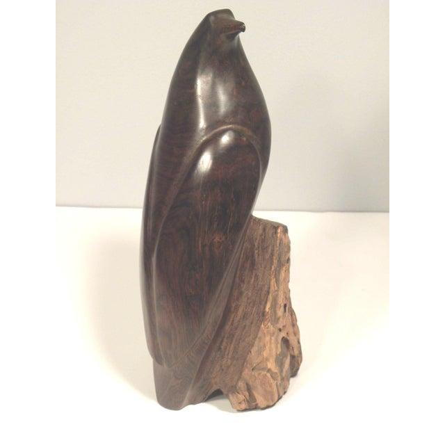 Mid Century Hand Carved Wood Bird Sculpture - Image 5 of 7