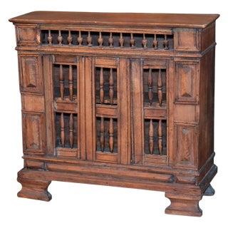 Early 19th C. Italian Carved Table Cabinet