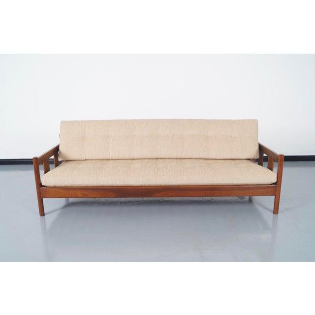 Danish Modern White Sofa - Image 2 of 5