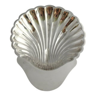 Vintage Silver Plate Large Shell Bowl