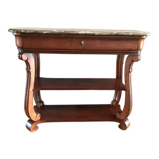 Wood & Marble Console Table