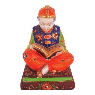 Vintage Reading Satsuma Boy Lamp Base
