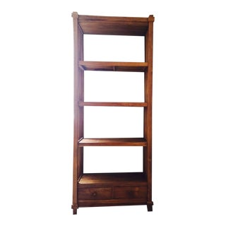 Indonesian Teak Wood Bookshelf