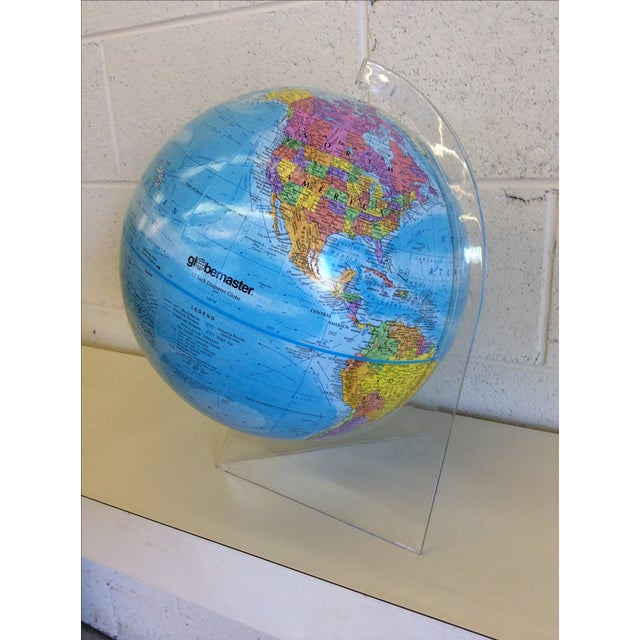 Globemaster 12 Inch World Globe With Acrylic Stand - Image 4 of 4