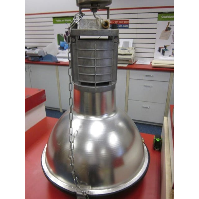 Five Large French Mid-Century Industrial Lights - Image 6 of 8