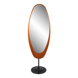 Mid-Century Italian Standing Floor Mirror