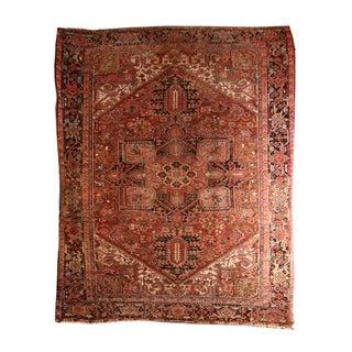 "Vintage Persian Heriz Rug - 8'11""x11'10"""
