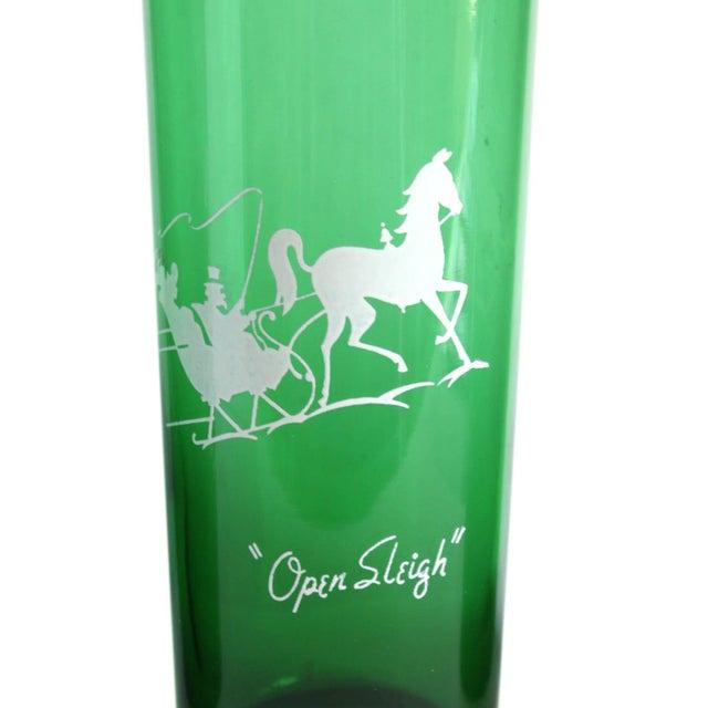 Vintage Green Drinking Glasses- Set of 4 - Image 4 of 6