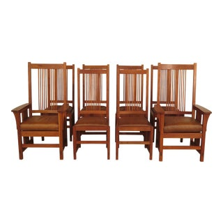 Stickley Arts & Crafts Dining Chairs - Set of 8