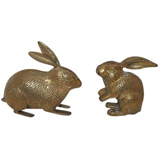 Brass Rabbits - A Pair