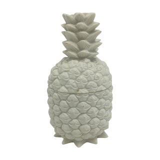 White Pineapple Box With Lid