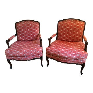 Baker Furniture Bergere Chairs - A Pair