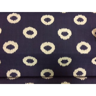 Ikat Navy & White Geometric Design Fabric
