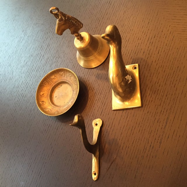 Image of Collection of Vintage Brass Accessories - Set of 4