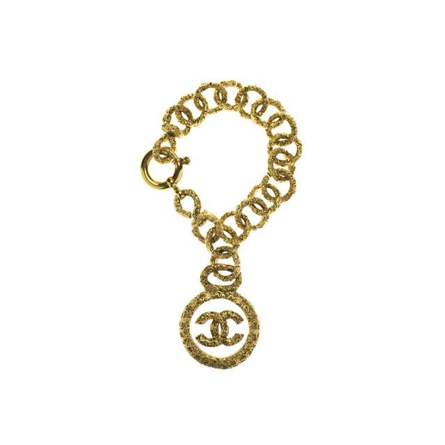 Image of Chanel Vintage Xl Logo Bracelet