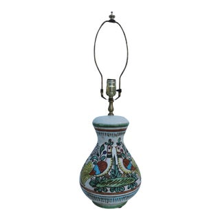Italian Art Hand Painted Ceramic Table Lamp