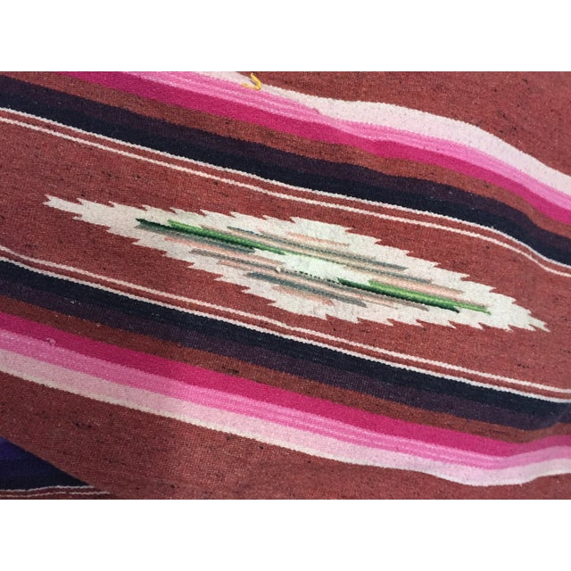 Vintage Saltillo Mexican Blanket Southwest Throw - Image 6 of 6