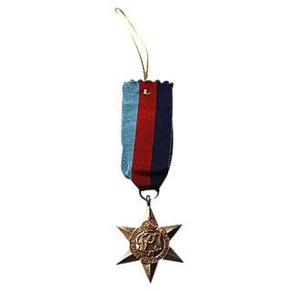 King George VI WWII Star Medal Ornament
