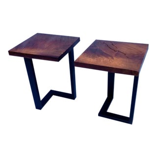 Black Walnut Side Tables - A Pair
